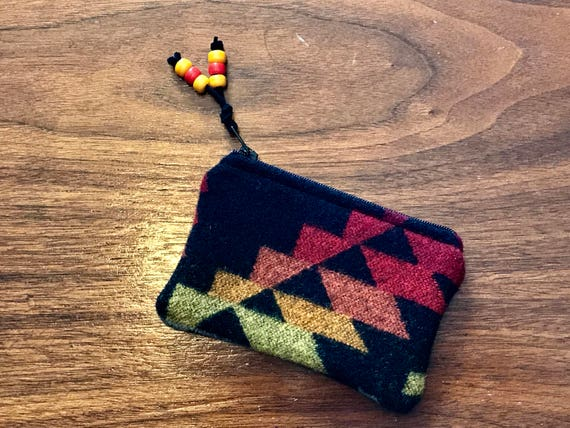Coin Purse / Gift Card Holder / Zippered Pouch XL Wool