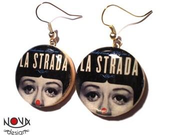 Fellini: Strada, Giulietta Masina - dangle earrings