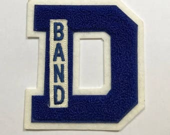 Dundee High School Band Letter Sew On Patch FREE SHIPPING Vintage Collectible