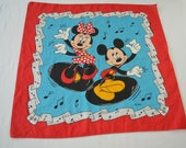 Vintage Mickey Minnie Mouse BANDANA official Disney made in USA rn 16463