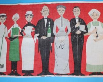 Vintage Irish Linen Tea Towel by Ulster