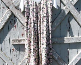 1990s Shenanigans floral dress L XL