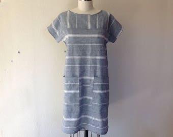 Sadie striped shift dress- X small