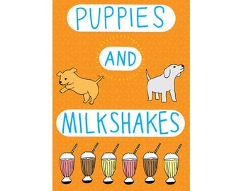 Greeting Card - Puppies And Milkshakes