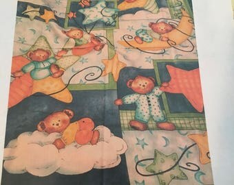 Flannel Quilt Top Angel Bears
