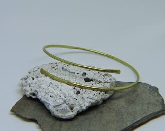 """SALE Gold Armlet - 9.5"""" Upper Arm Bracelet - Upper Arm Cuff - Gold Armband - Hammered Brass Arm Band - READY to SHIP"""