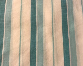 Vintage sheet fat quarter. Teal stripe