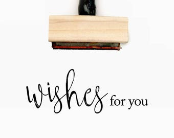 Wishes for you - Pre-Designed Rubber Stamp - Branding, Packaging, Invitations, Party, Wedding Favors - WR004