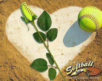 JULY SALE - 20% OFF: Original Softball Rose