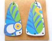 Recycled Jewelry Tin Earring Findings Pair