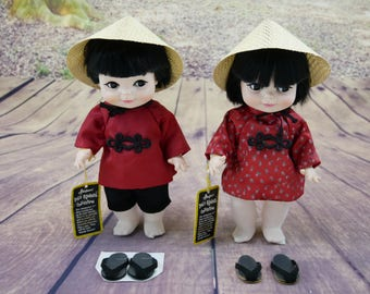 "Effanbee doll 1983 ""Fortune Cookie"" boy & girl"