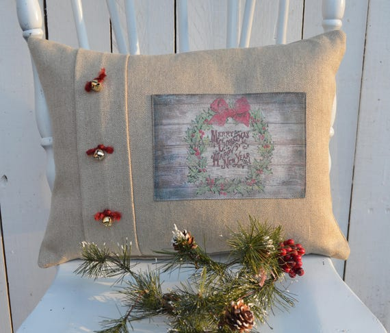 Christmas Wreath Pillow