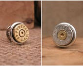 Bullet Jewelry - Gift for Man - Bullet Casing Tie Tack/Lapel Pin/Hat Pin - Gifts Under 20 - Choose Brass or Nickel Casing - Calibers Vary