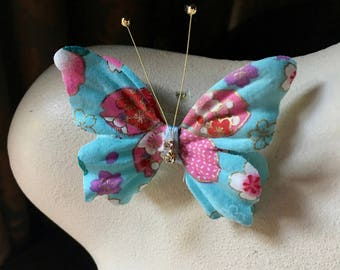 Kimono Butterfly Pin Clip SMALL #7  for Hair, Millinery, Crafts, Accessories
