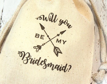 Will you be my Bridesmaid? Wedding party proposal favor bags - 4x6