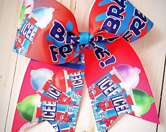 Icee Brain Freeze Cheer bow- Icee- Cheer- Hair bows- Hair clip-Pony o- Girls fashion
