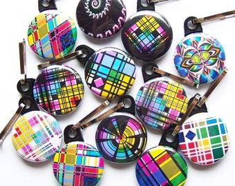 Wholesale 25 Geometric Decorative Zipper Pulls