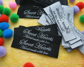 Free Shipping 200pcs Custom Clothing Damask Woven Labels (Artwork) HemTag/ Center fold / End Fold / Hat / Woven Label for clothing / Vintage