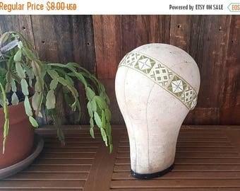 SALE Bohemian Headband / green boho ethnic headpiece / tribal