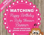 SALE Banner, Happy Birthday or Baby Shower - Match Any Style (In our store) - 19.99 each