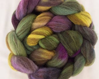 Hand dyed roving, Hand painted Shetland Humbug, Humbug, Humbug fibre, Tops, hand dyed fiber, Hand dyed spinning wool, Handspinning, felting