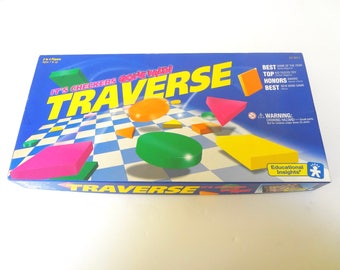 Vintage 1992 Traverse Board Game It's Checkers Gone Wild