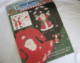 Daisy Kingdom No sew fabric applique, Candy Santa.