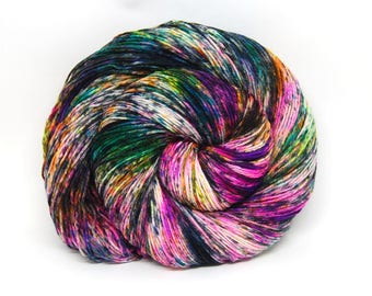 "Hardcore Sock Yarn - ""BamBOOzled"" - Handpainted Superwash Merino - 463 Yards"