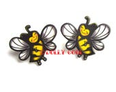 Bee Mini Pin set by Dolly Cool Cute Kawaii Manchester Bee Insect Beehive Nature