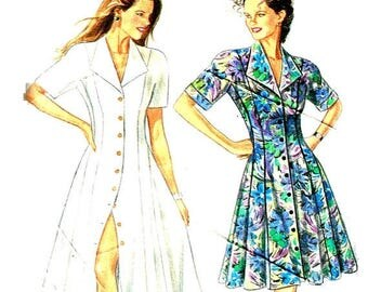On Sale Fitted Flared Dress, New Look 6001 Sewing Pattern Size 8 10 12 14 16 18  Bust  34 36 38 40 42 44 Uncut Factory Folds