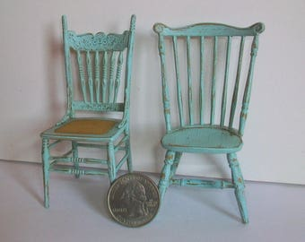 Pair of Odd Chairs  1:12 scale