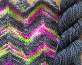 Handpainted Self-Striping Sock Yarn with matching mini skein - CHANNEL Z
