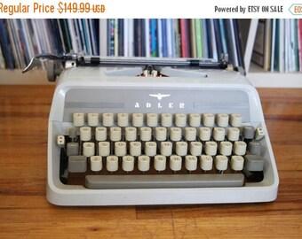 SALE 25% OFF Mid Century Adler J3 Typewriter with Rare Elite Cubic Typeface, Case, Original Instructions, & New Ribbon!