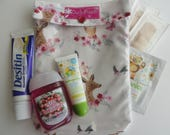 Pink Woodland Animals Ouch Pouch Clear Front First Aid Medicines School Supplies Toddler Baby Girl Organizer Diaper Bag Insert Medium 5x7