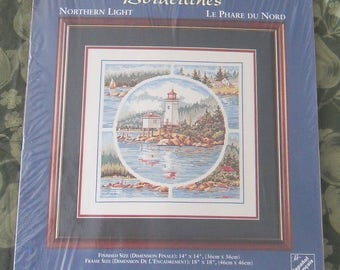 Lighthouse Counted Cross stitch sewing kit by Needle Treasures