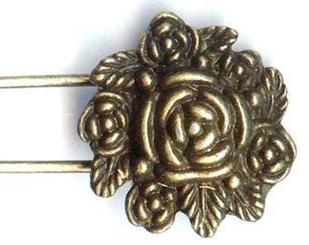 PIN ❀ ROSE to the antique Bronze MAT2145 57x24mm ❀