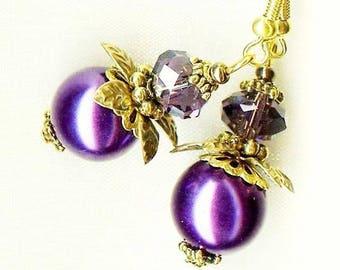 Earrings Lavender ✿OR314 ✿FLEUR