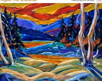 On Sale Geo Landscape II Original Painting by  Prankearts