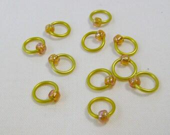 Amber Gold Snag Free Stitch Markers