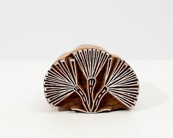 50% off Wood Textile Stamp Flower 221