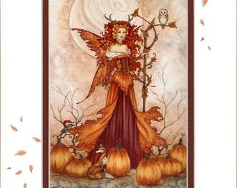Hand Accented fairy 5x7 matted 8x10 by Amy Brown