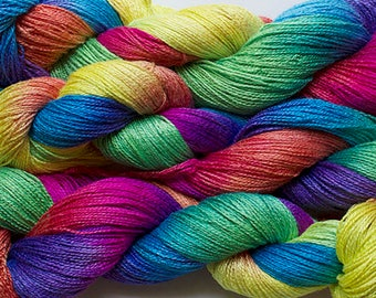 Fine Bamboo, Hand Painted yarn, 300yds - Holi