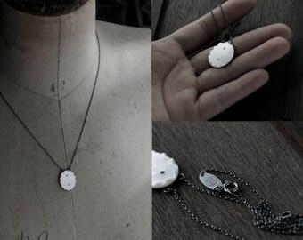 Bevelled Oval Elegance Oxidised necklace