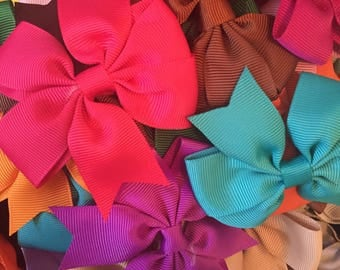 Hair Bows Boutique Style Hair Bows for Girls Baby Infant Toddler Girls Back to School Grab Bag 3 Inch Hair Bows Hair Clips Back to School