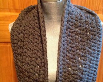 Cowl neck Scarf in Gray