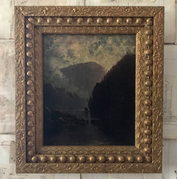 Antique French Oil on Canvas, 1800, signed