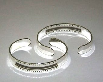 Centerline Silver Plated Adjustable Bracelet Cuffs Package Of 2