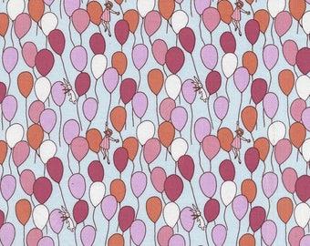 Sarah Jane Children At Play Balloons Aqua Michael Miller Fabric
