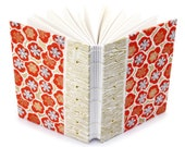Plum Blossom Journal in Gold und rot - handgefertigt von Ruth Bleakley