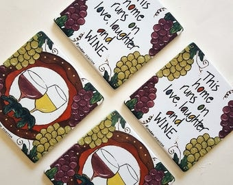 Set of Coasters for WINE LOVERS